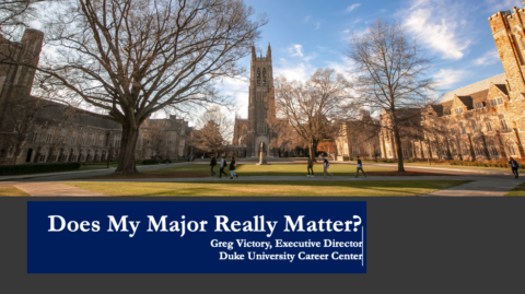 Does My Major Really Matter?