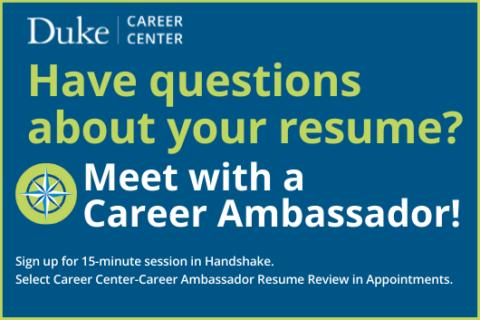 Resume Reviews with Career Ambassadors