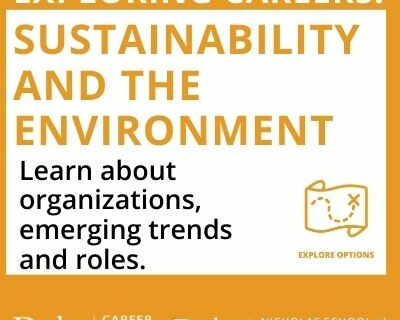 Exploring Careers:Sustainability and the Environment. Learn about organizations, emerging trends and roles.
