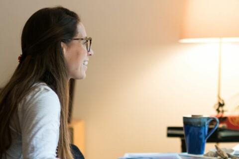 Women looking at computer screen