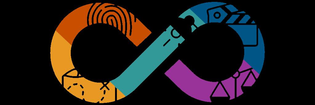 Career Development Process Icon that is infinity symbol.