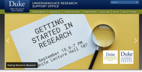 Undergraduate Research Support Office